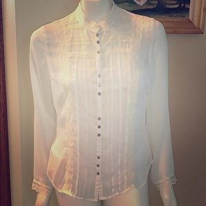 Vintage sheer lace top with camisole. Medium